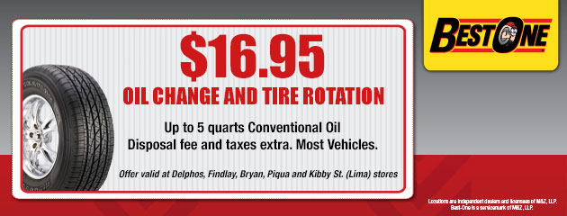 $16.95 Oil Change and Rotation Coupon