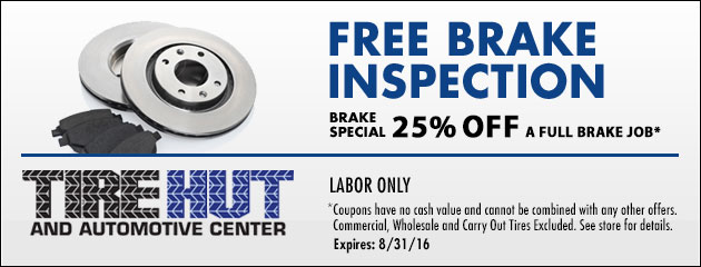 Free Brake Inspection - Brake Special - 25% off a Full Brake Job
