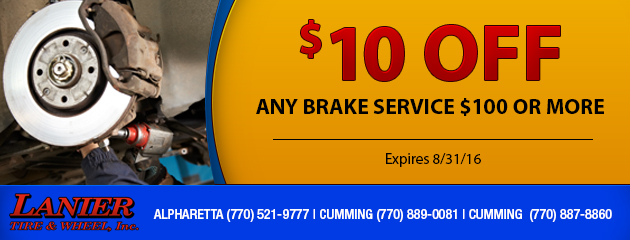 Brake Service Special - Receive $10 off any brake service $100 or more