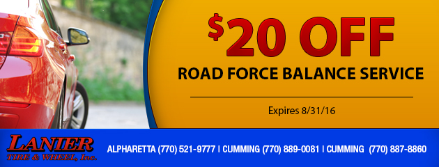 $20 Off Road Force Balance Service