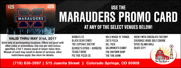 Get Your Marauders Promo Card Today!