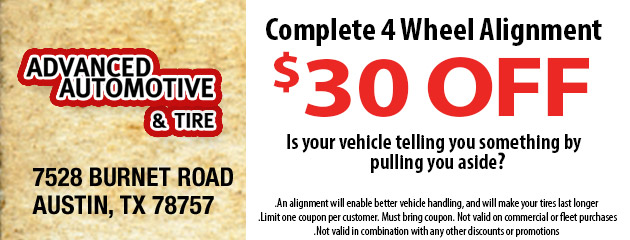 $30 OFF Complete 4 Wheel Alignment