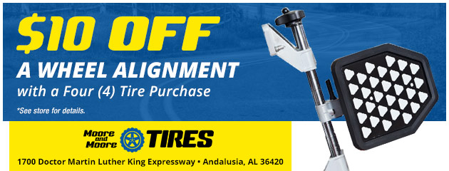 $10.00 Off a Wheel Alignment