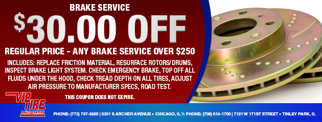 $30 Off Brake Service Special