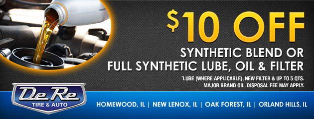 $10 Off Synthetic or Full Synthetic Lube, Oil & Filter
