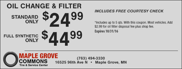 Oil Change & Filter Special