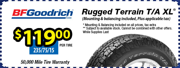 BFGoodrich Rugged Terrain T/A XL