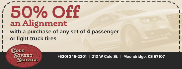 50% Off an Alignment with a purchase