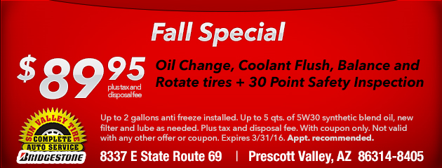 Fall Special - $89.95
