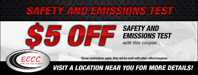 $5 Off Safety and Emissions Test