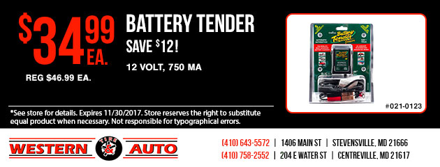 Save $12 on Battery Tender