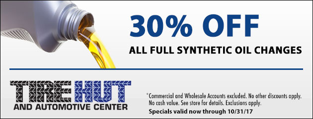 30% Off All Full Synthetic Oil Changes