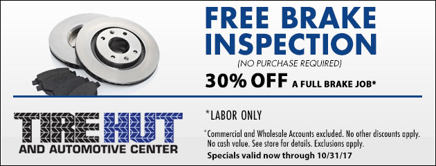 FREE Brake Inspection No purchase required - 30% OFF A Full Brake Job
