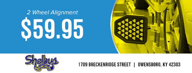 2 Wheel Alignment $59.95