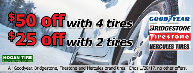 Save up to $50 on Select Tires