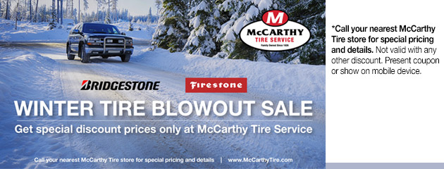 Winter Tire Blowout Sale