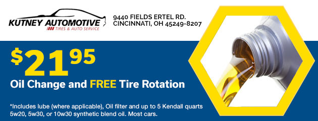 $21.95 Oil Change with FREE tire Rotation