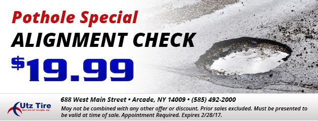 Pothole special - Alignment check - $19.99