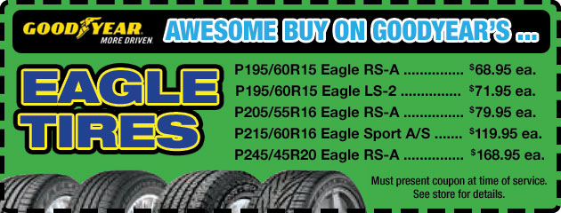 Goodyear Eagle Tires Special