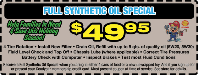 Full Synthetic Oil Special