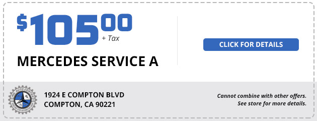 Mercedes Service A - $105 plus tax