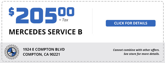 Mercedes Service B - $205 plus tax
