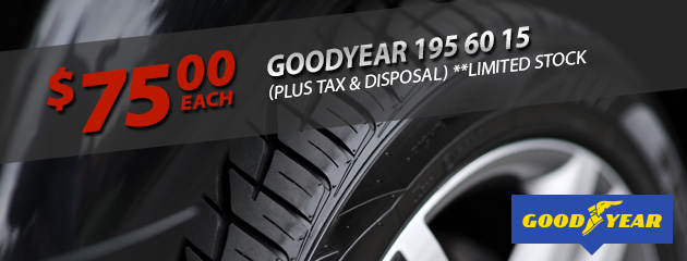 Goodyear 195 60 15 Only $75!