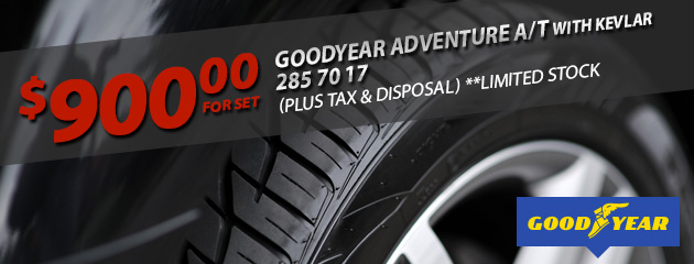 Goodyear 285 70 17 - $900 for set!