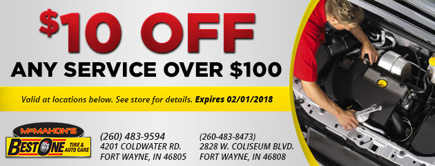 $10 Off Any Service Over $100