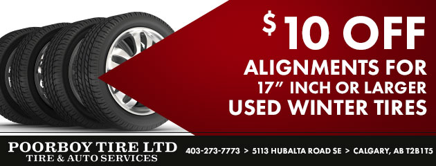 $10 Off Alignments for Select Used Winter Tires