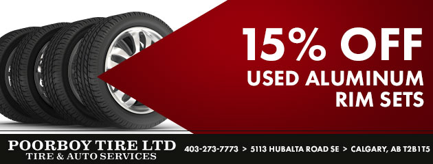 15% Off Used Aluminum Rim Sets