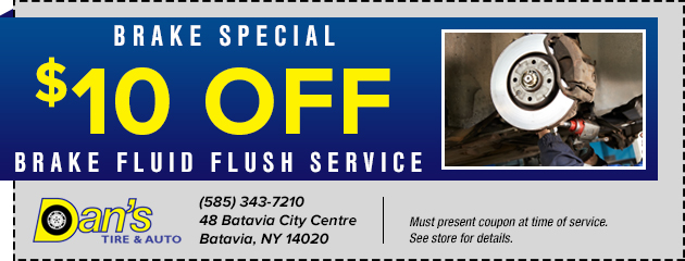 $10 Off Brake Fluid Flush Service Special