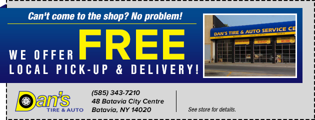 We Offer Free Local Pick-up And Delivery!