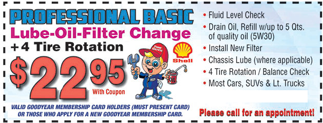Oil and Lube and Rotation Coupon