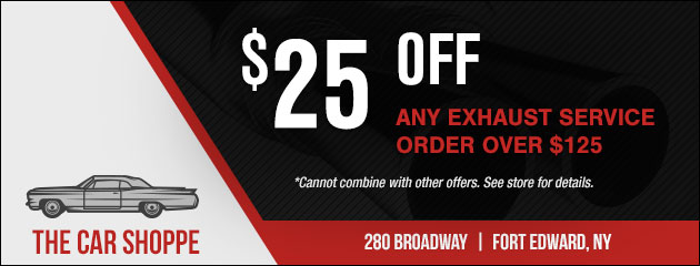 $25 Off Any Exhaust Service Order Over $125