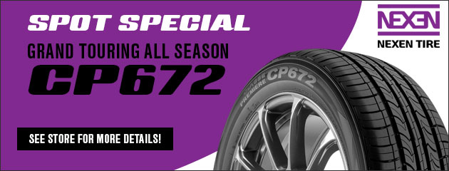 Spot Special on the CP672 Nexen Tire - Ask for details!