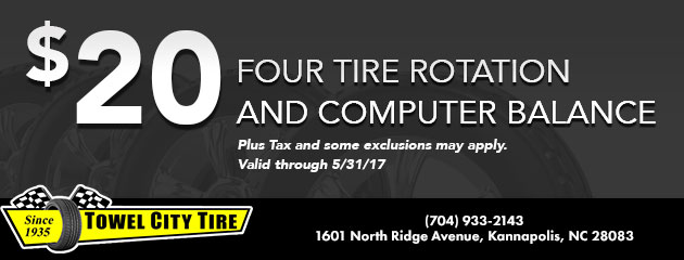 Four Tire Rotation and Computer Balance - $20