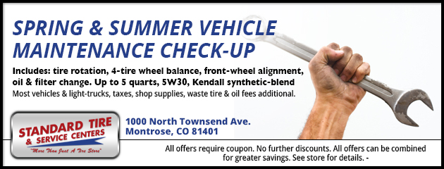 Spring & Summer Vehicle Maintenance Check-up