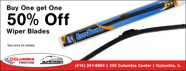 Buy One get One 50% off wiper blades