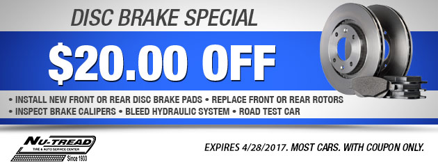 $20 Off Disc Brake Special