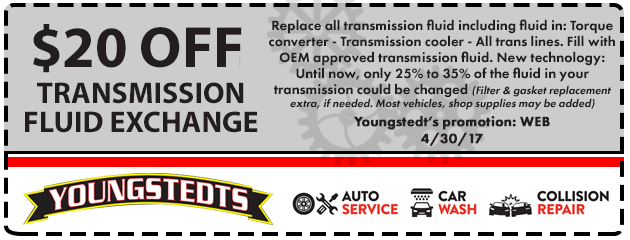 $20 Off Transmission Fluid Exchange