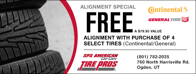 FREE Alignment with purchase of 4 select tires