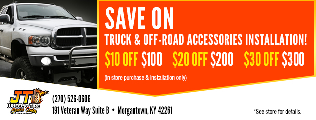 Save On Truck And Off-Road Accessories Installation!