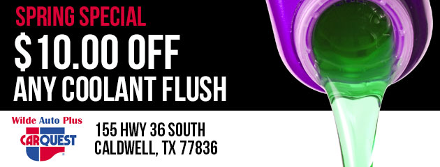 Spring Special! $10.00 Off Any Coolant Flush