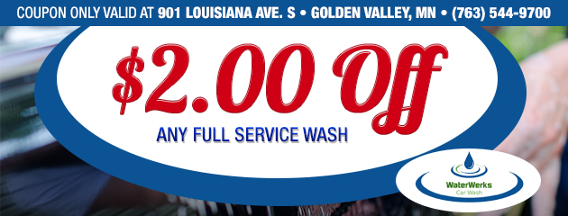 $2 Off Full Service Wash - Golden Valley