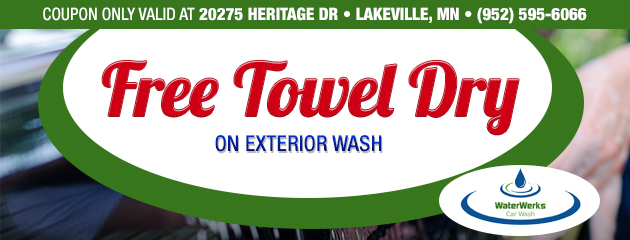 Free Towel Dry On Exterior Wash - Lakeville