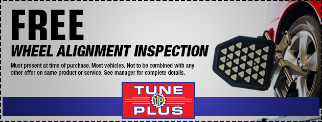 Free Wheel Alignment Inspection