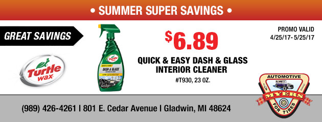 $6.89 Quick & Easy Dash & Glass Interior Cleaner