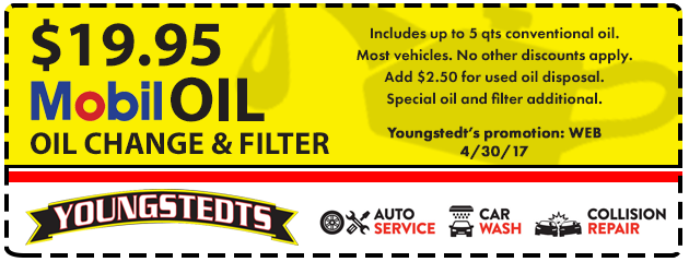 $19.95 Mobil Oil Change & Filter