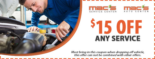 $15 Off Any Service Special